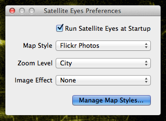 Sattelite Eyes Preferences